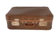 Valigia marrone dell'annata Immagine Stock