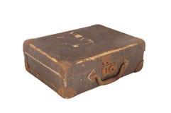 Valigia marrone dell'annata Fotografia Stock Libera da Diritti