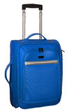 Valigia per il viaggio Colore blu con gli accenti d'argento Fotografia Stock Libera da Diritti