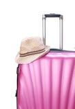 Valigia per il viaggio isolata su bianco Fotografia Stock Libera da Diritti