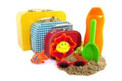 Valigia per la vacanza di famiglia Fotografia Stock