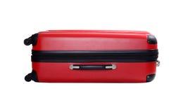 Valigia rossa isolata Fotografie Stock Libere da Diritti