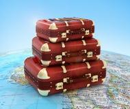 Valigie di viaggio Fotografie Stock Libere da Diritti