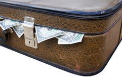 Valise avec de l'argent photos libres de droits