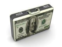 Valise avec des dollars. Image libre de droits
