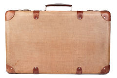 Valise brune de cru Photos stock