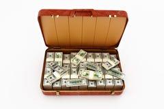 valise d'argent Image stock