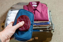 Valise d'emballage Image stock