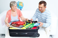 Valise d'emballage Images stock