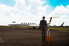 Valise de transport d'homme d'affaires Photographie stock