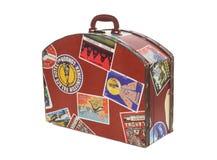 Valise de voyageurs du monde Image stock