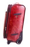 Valise en cuir rouge Photo stock