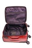 Valise en cuir rouge Photos libres de droits