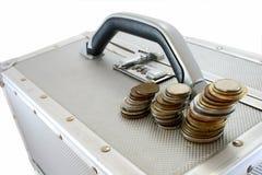 Valise et argent photos stock