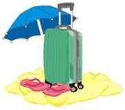 Valise et temps de vacances Photos libres de droits