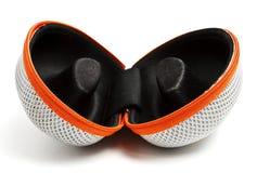 Valise ouverte de lunettes Image stock