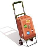 Valise sur des roues Photo stock
