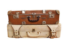 Valises antiques photo libre de droits