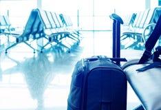 Valises dans l'aéroport Photos stock