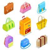 Valises isométriques d'american national standard de sacs Image libre de droits
