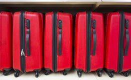 Valises rouges Photographie stock libre de droits