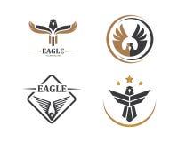 valk, ontwerp van de het pictogram het vectorillustratie van het adelaarsembleem royalty-vrije illustratie