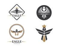 valk, ontwerp van de het pictogram het vectorillustratie van het adelaarsembleem stock illustratie