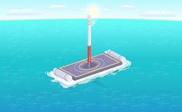 Valk Rocket Sailing Platform Vector Illustration vector illustratie