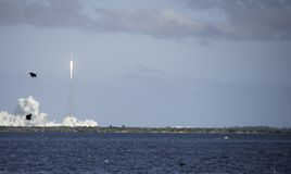 Valk Zware Lancering in Kaap Canaveral Stock Fotografie