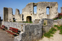 The Valkenburg castle ruin, made of marlstone Royalty Free Stock Photo