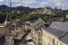 Valkenburg Castle and town - Netherlands Royalty Free Stock Photos