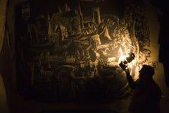Valkenburg in charcoal Stock Image