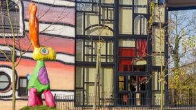 VALKENBURG, NETHERLANDS - NOVEMBER 22,2014:  Overview Hundertwas Royalty Free Stock Photography