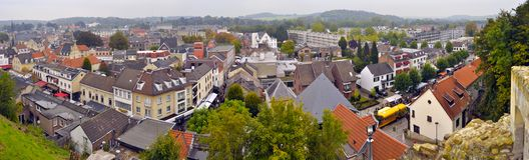 Valkenburg Panorama Lizenzfreies Stockfoto