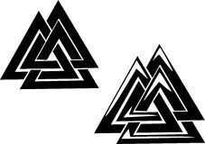Valknut Foto de Stock Royalty Free