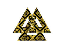 Valknut is a symbol of the world's end of the tree Yggdrasil. Si Royalty Free Stock Photos