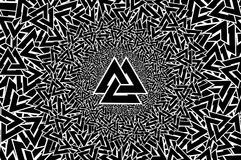 Valknut vector pattern, Royalty Free Stock Images