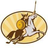 Valkyrie Amazon Warrior Horse Rider Stock Image