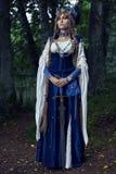 Valkyrie warrioress στο κοστούμι κισσών στοκ εικόνα