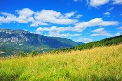 Vallée Abruzzo Italie - Apennines centraux de Roveto Images libres de droits