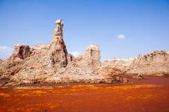 Vallée avec des formations fantastiques de minerais photo stock