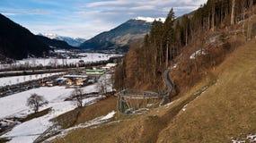 Vallée avec les attractions récréationnelles Images libres de droits