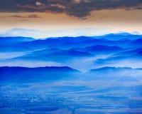 Vallée bleue Image libre de droits