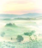 Vallée brumeuse photos libres de droits