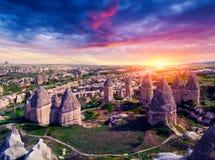 Vallée célèbre d'amour dans Cappadocia Image stock