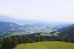 Vallée carinthienne de la Drave de montagne de PEC, Autriche Images libres de droits