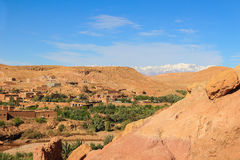 Vallée chez Ait Benhaddou, Maroc Photographie stock libre de droits