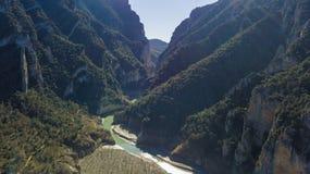 Vallée congost de montrebei Photo stock
