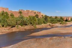 Vallée d'Ait Ben Haddou, Maroc Image stock