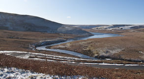 Vallée d'allant, Rhayader, Powys Image stock